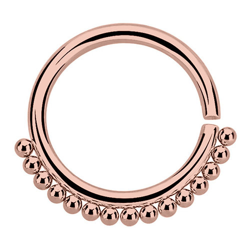Rose Gold on Steel Tribal Twist Ring