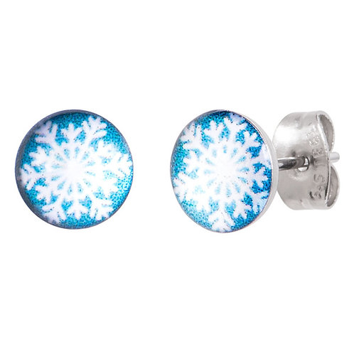 Snowflake Surgical Steel Ear Studs
