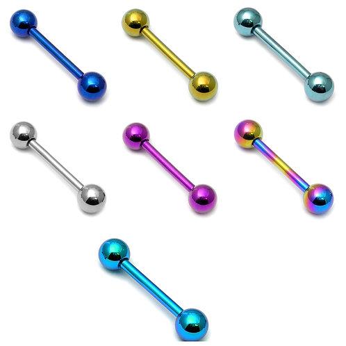 Titanium barbell 14mm 1.6 gauge 5mm ball