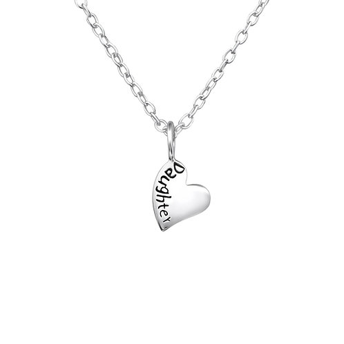 Daughter Sterling Silver  Necklace