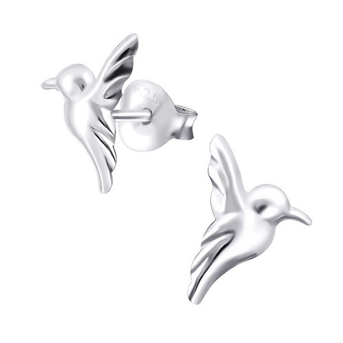 Hummingbird Sterling Silver Ear Studs