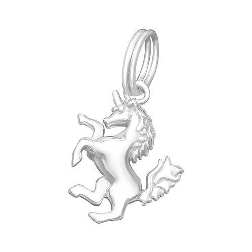 Unicorn Sterling Silver Split Ring Charm