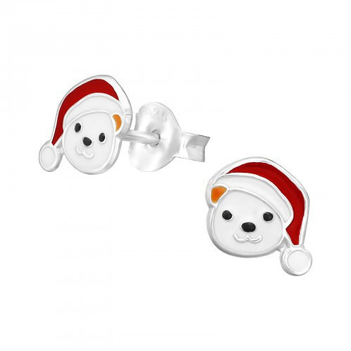 Bear  Sterling  Silver Ear Studs