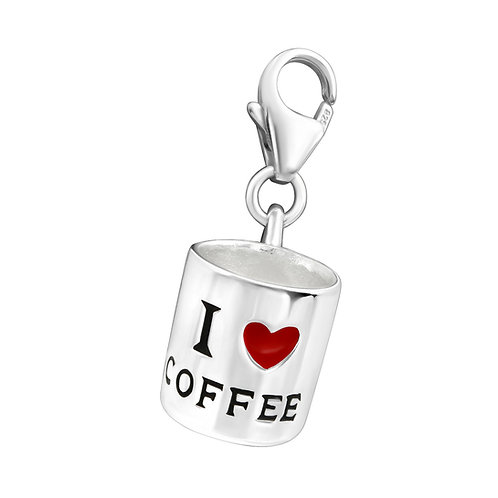 Coffee cup Sterling Silver Lobster Charm