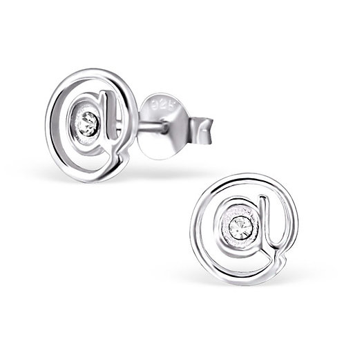 @ Sign Sterling Silver Ear Studs