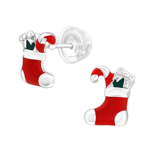 Christmas Stocking  Ear Studs