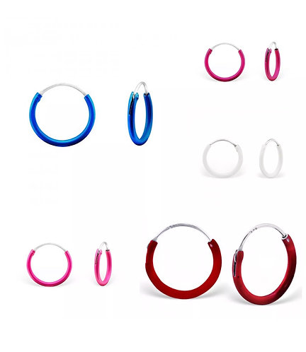 925 Sterling Sliver Hoops
