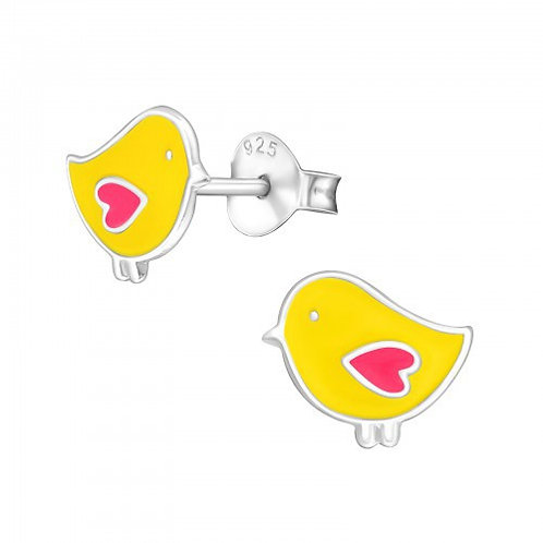 Yellow Chicks Sterling Sliver Ear Studs