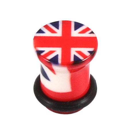 Acrylic Union Jack Flag Plugs