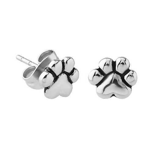 Surgical Steel Paw Print Ear Studs