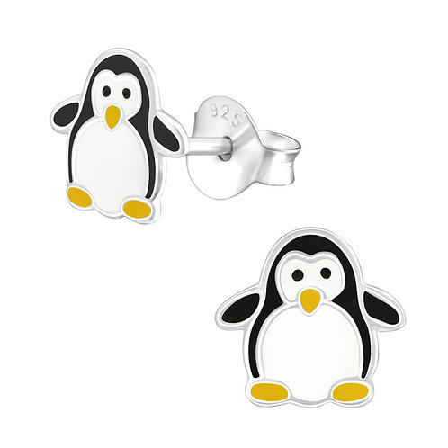 Penguin Sterling Silver Ear Studs