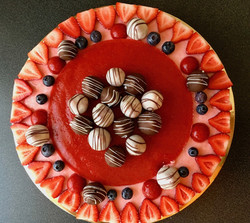 Torta bavarese alle fragole