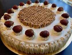 Torta Bavarese alle castagne