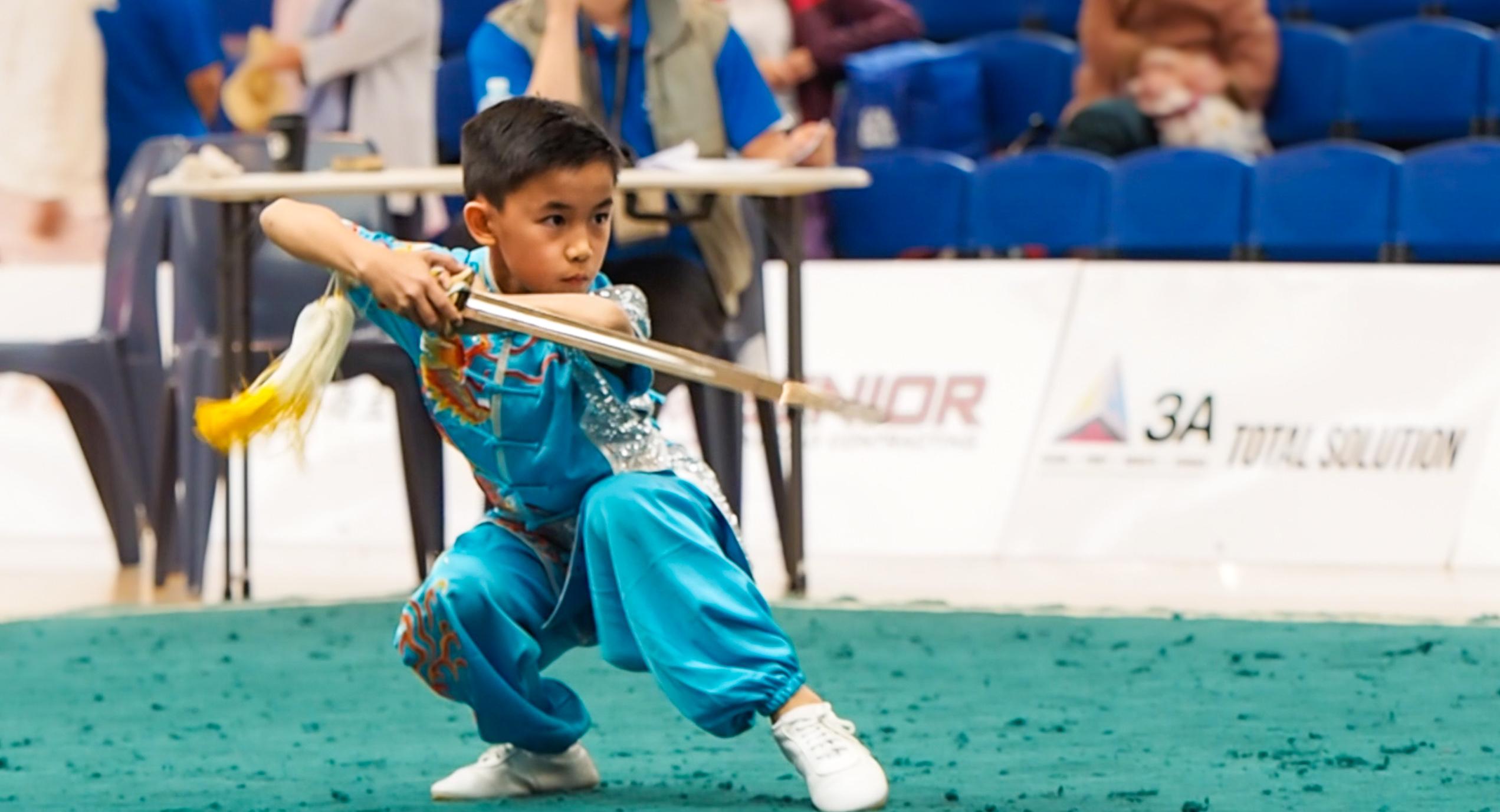 Bryan Chu Boys Jian Straight Sword NZ Wu