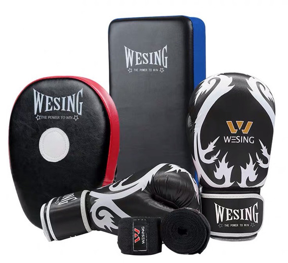 Wesing Sanda Kickboxing Black Gloves Han