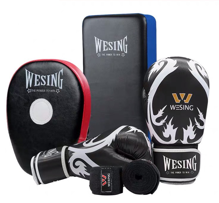 Wesing Sanda Kickboxing Black Gloves Han