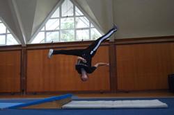 Annabelle aerial cartwheel NZ Wushu