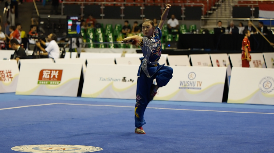 Anna Zhou Jianshu World Junior Wushu Cha
