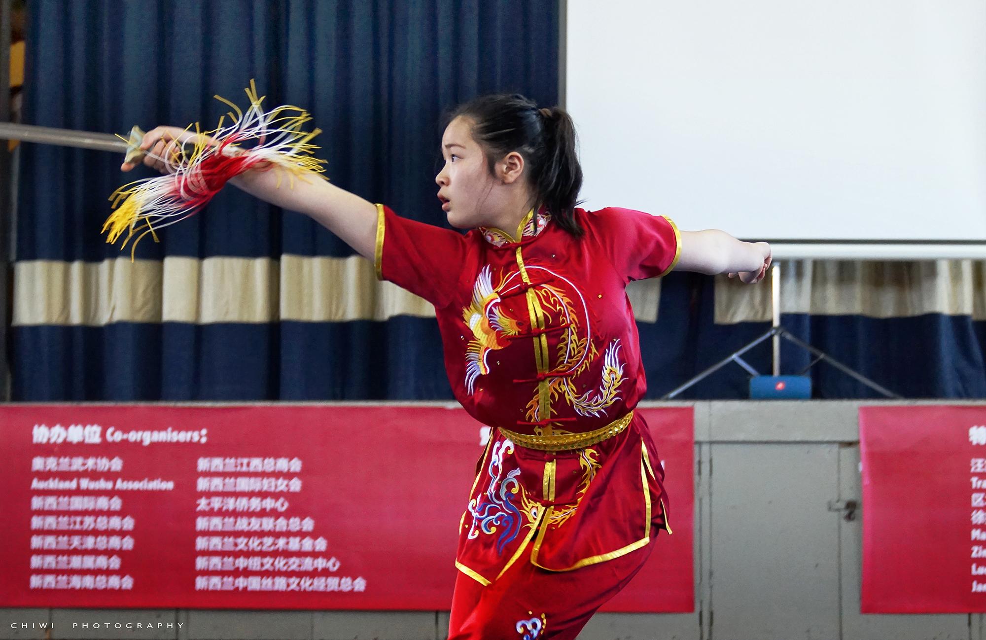 Annabelle Liang straight sword NZ Wushu