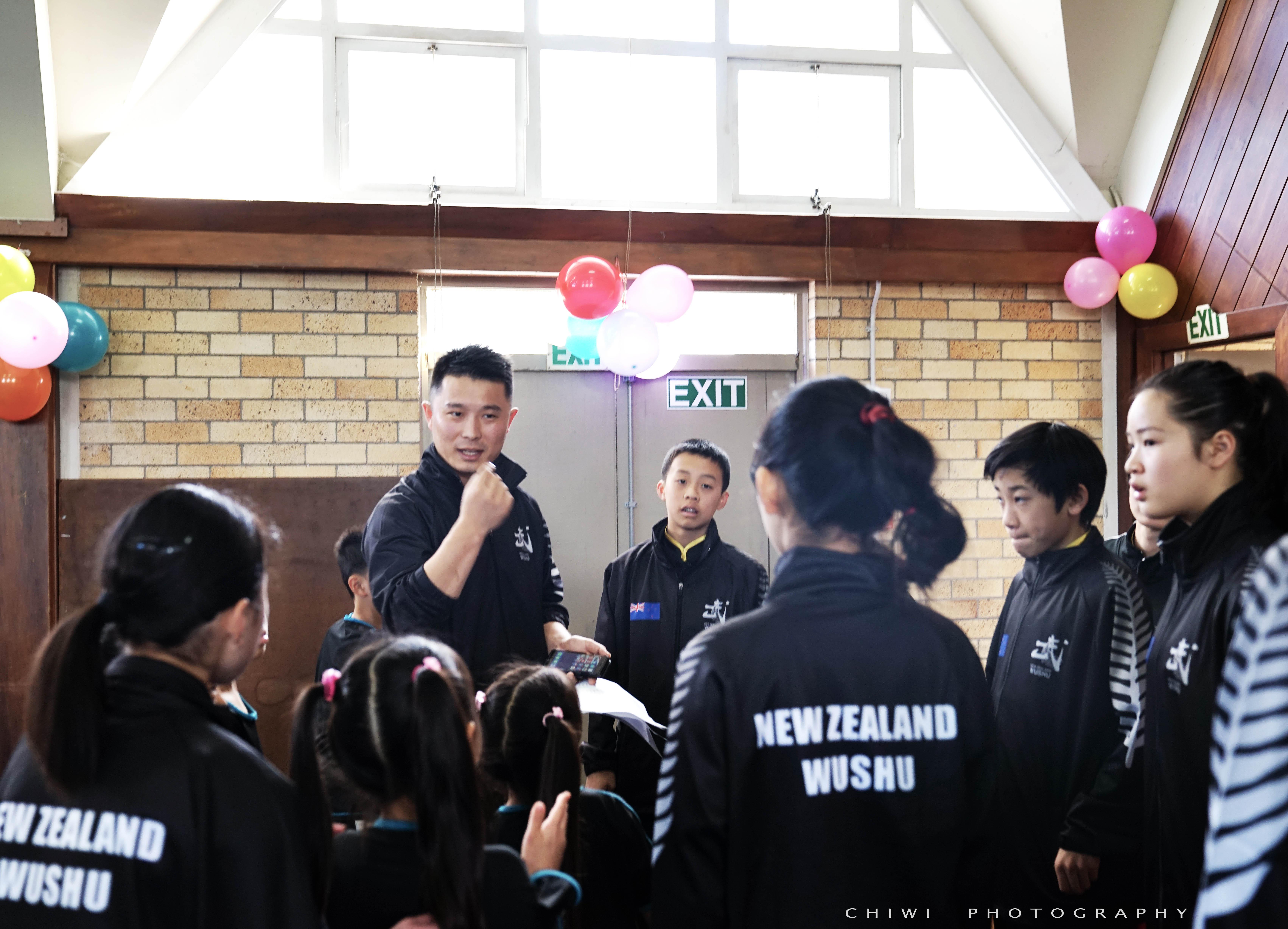 Coach Wei Zhao prep talk