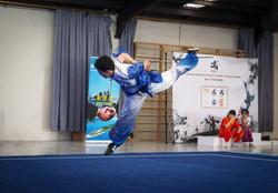 Kameron Li - Butterfly jump with straight sword, wushu