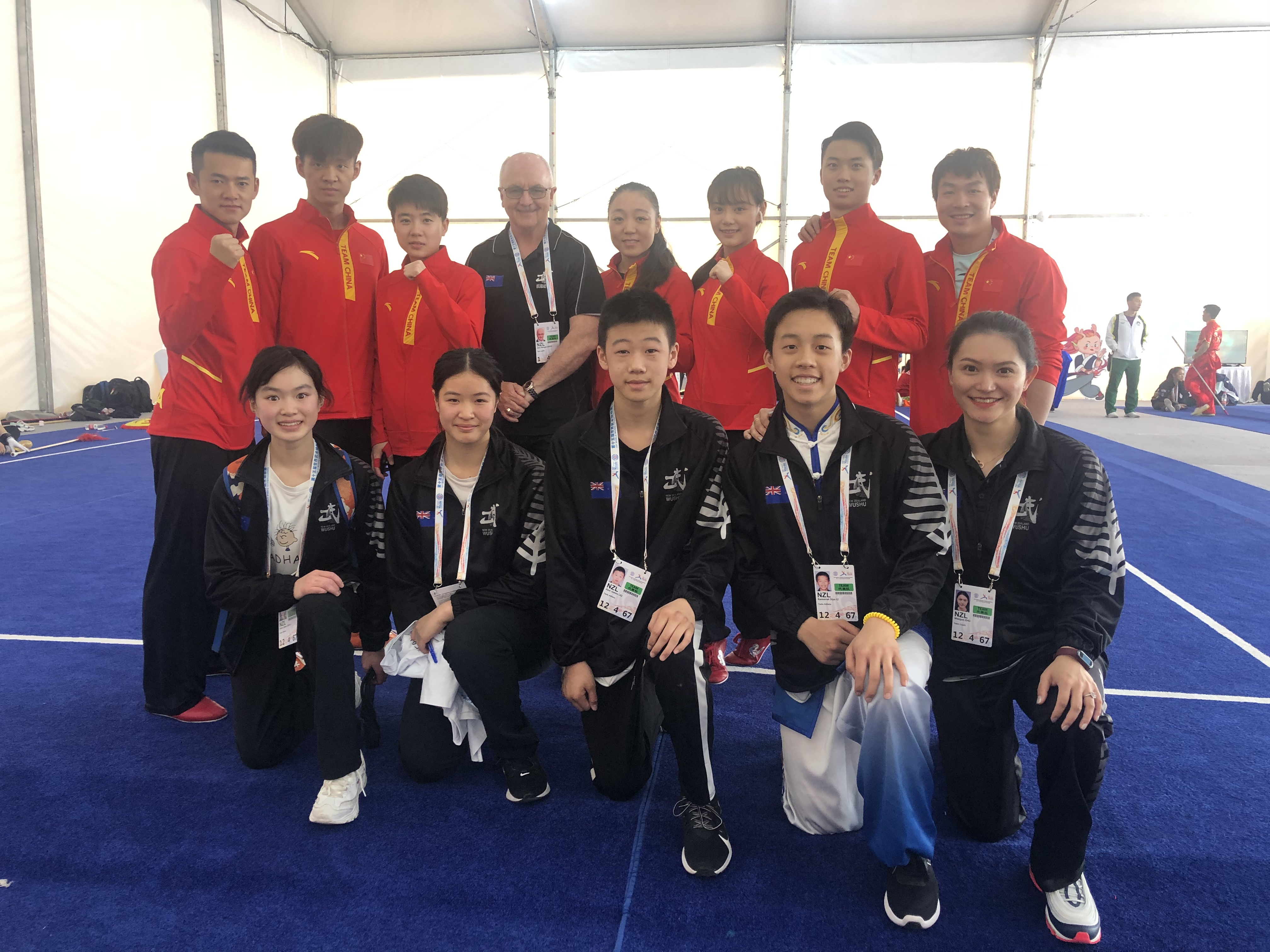 NZL Team Photo with the China Team