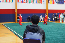 Wei Zhao judge Tai Chi NZ Kungfu wushu championships