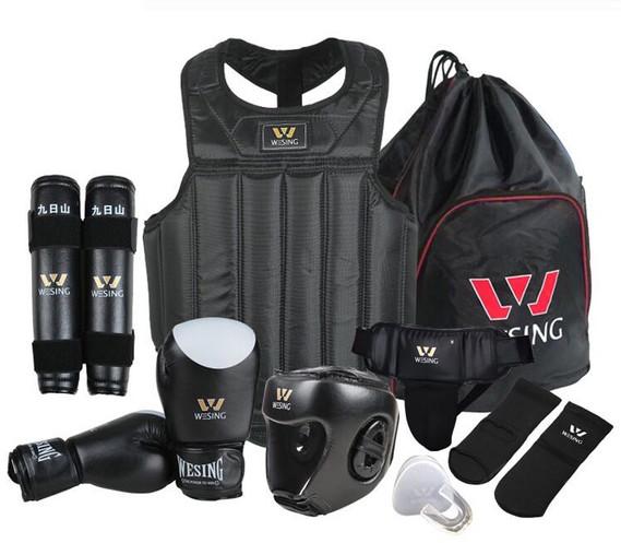 Sanda Kickboxing Black Gloves Hand Wrap