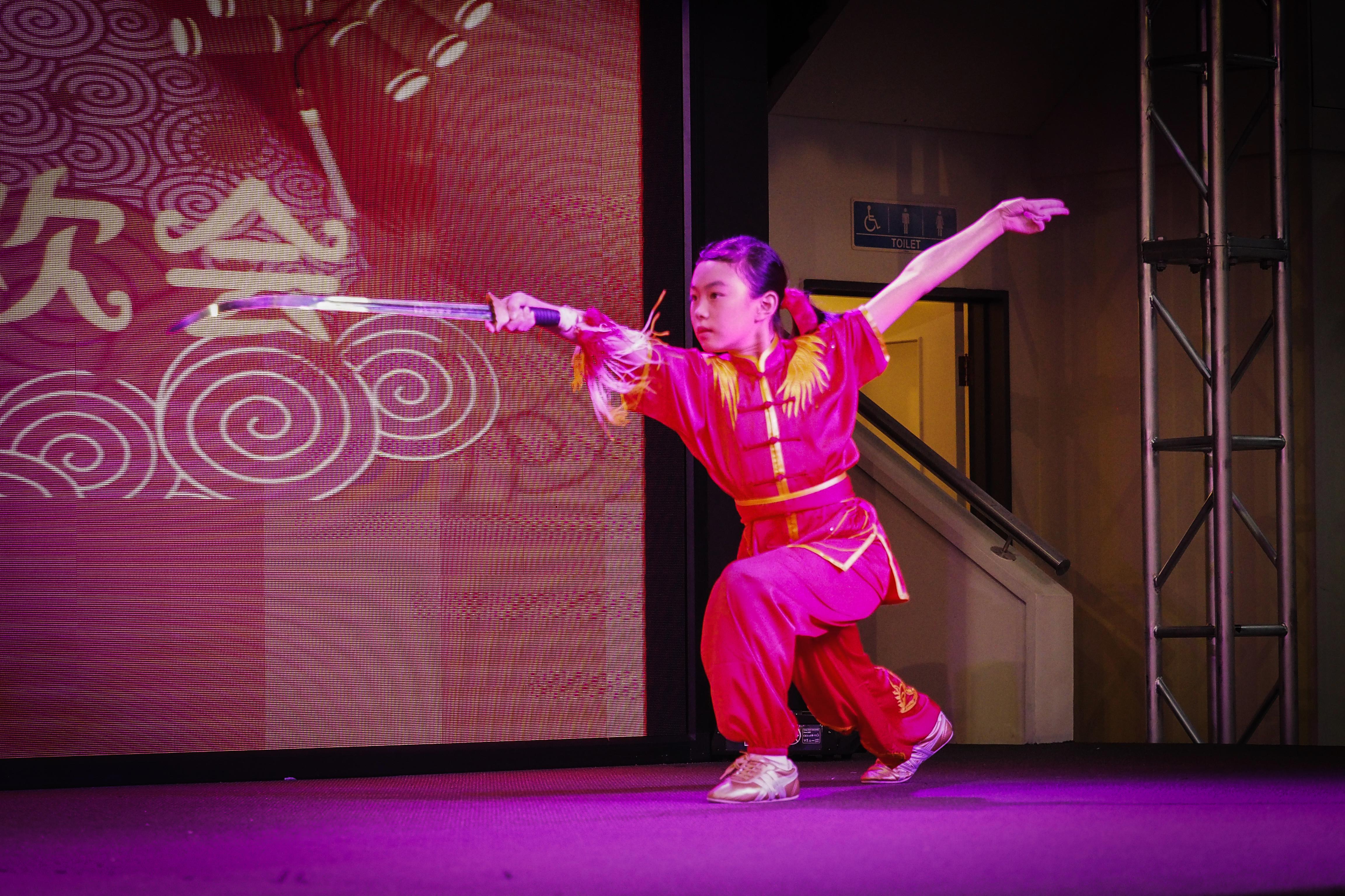 Anna Zhou Straight Sword Performance NZ Wushu