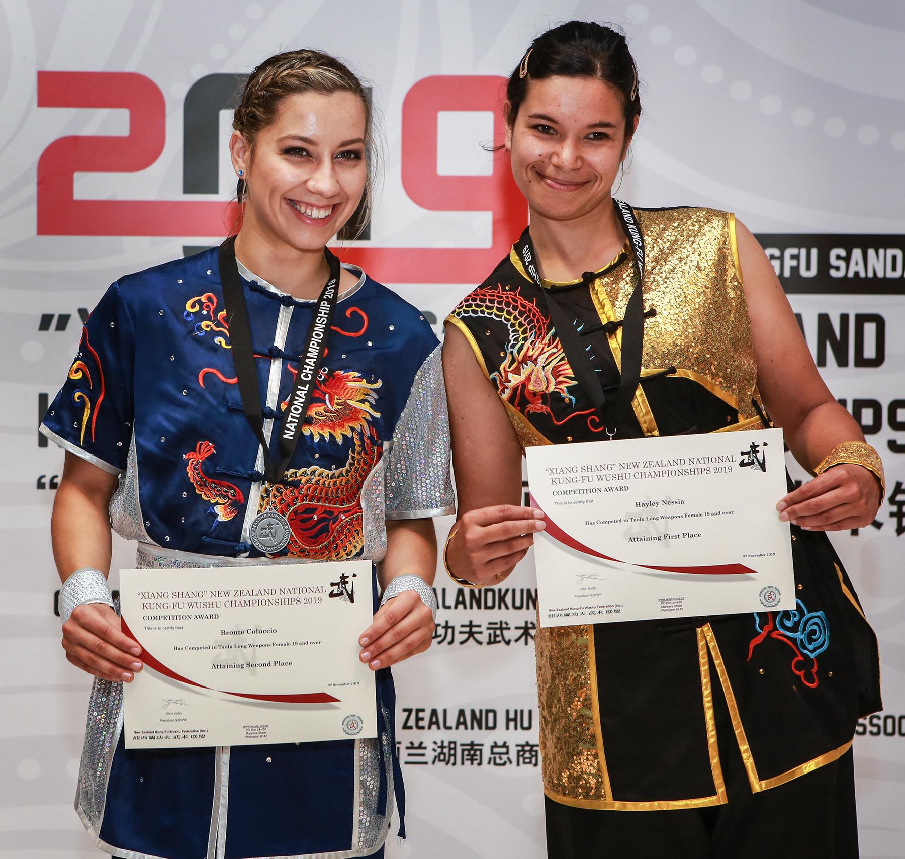 NZ Wushu 2019 Bronte Hayley