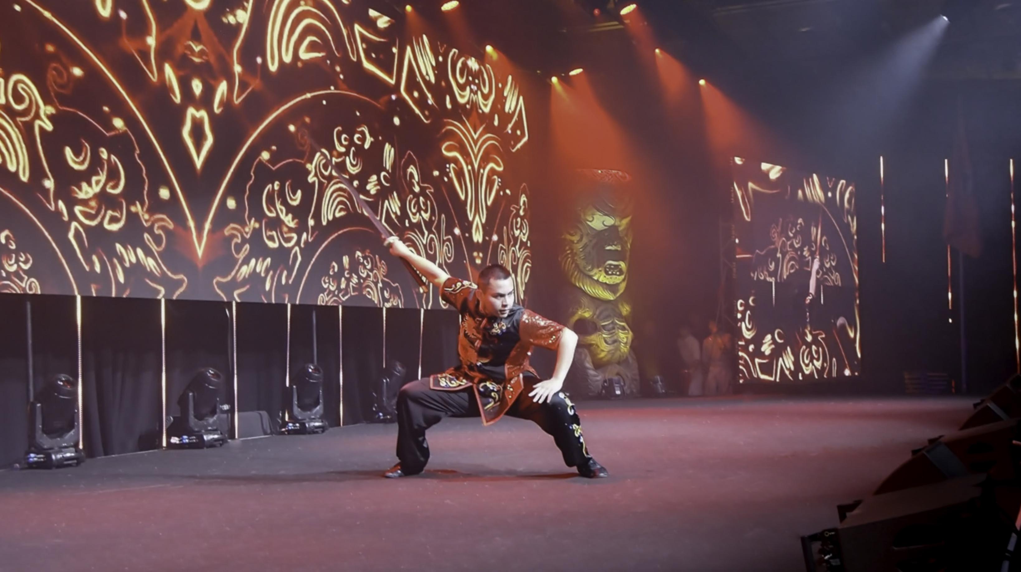 Double Hand Sword Performance Wushu