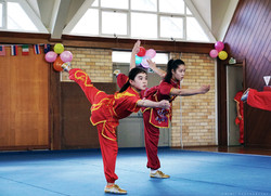 Anna Zhou Annabelle Liang balacne NZ Wushu