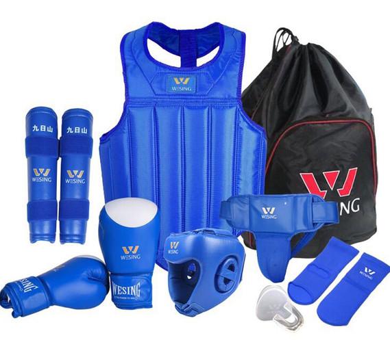 Sanda Kickboxing Blue Gloves Hand Wrap M