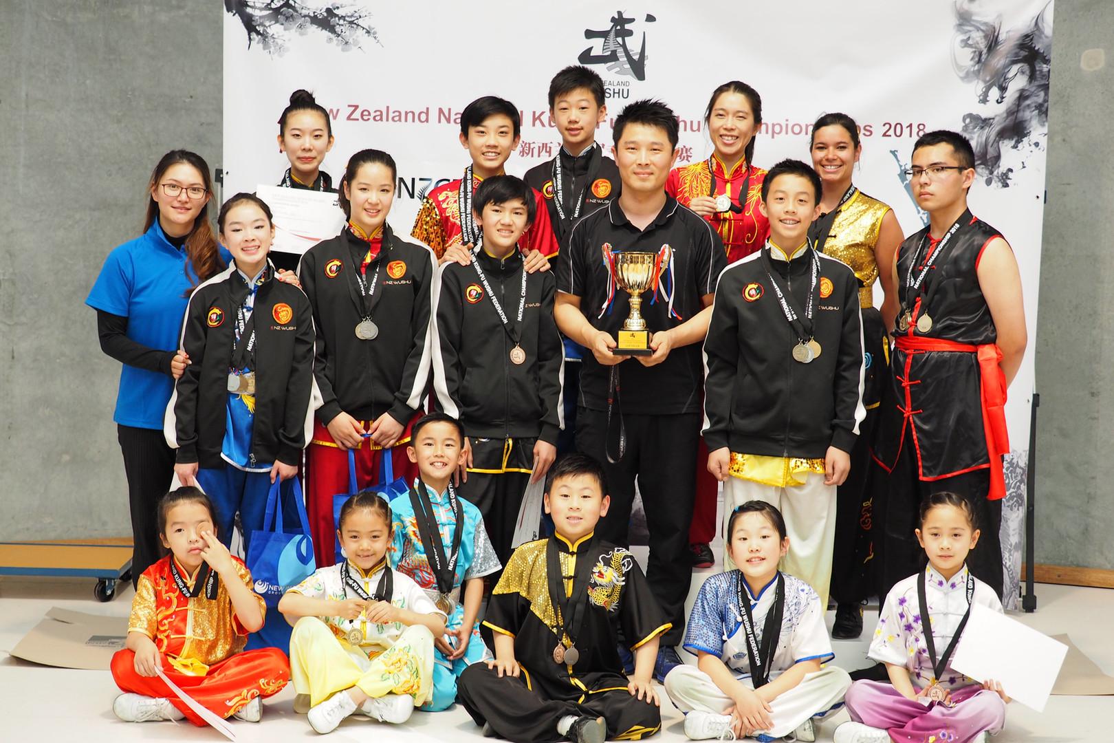 NZ Wushu Academy Team First Place, NZ National Championships 2018.JPG