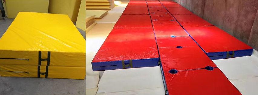 Crash mats yellow red blue custom made.j