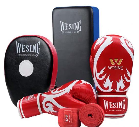 Wesing Sanda Kickboxing Red Gloves Hand