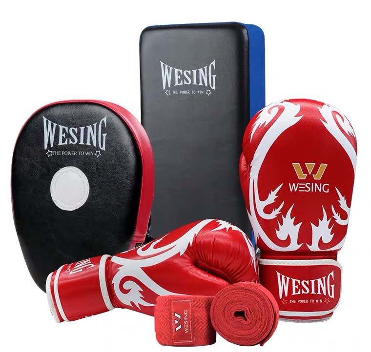 Wesing Sanda Kickboxing Red Gloves Hand