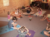 Teaching Kids Yoga with Marlee💗 (to my right) 2010