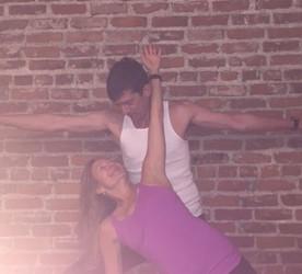 Cherie and Dan, Partner Yoga