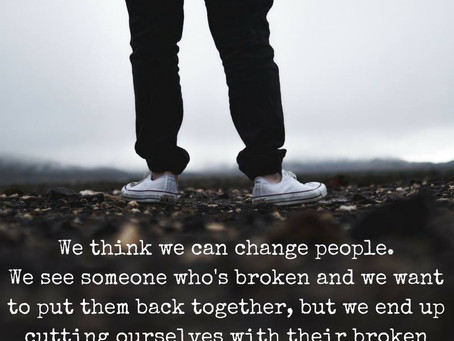 Watch out for the broken pieces..
