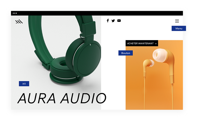 Site web de casque audio