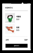 내장된 매장과 장바구니 항목이 있는 Wix의 웹사이트