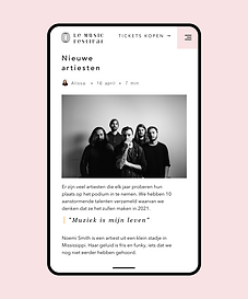 A website created for a music festival featuring their Wix Blog.