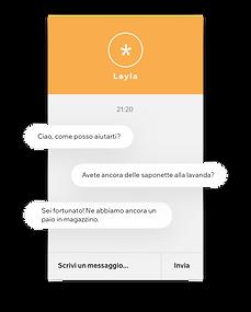 Sito web di un brand di prodotti di bellezza che offre assitenza clienti sull'inventario attraverso la Wix Chat.