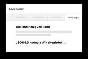 JSON-LD koduyla Wix sitenizdeki yapılandırılmış verileri özelleştirme.