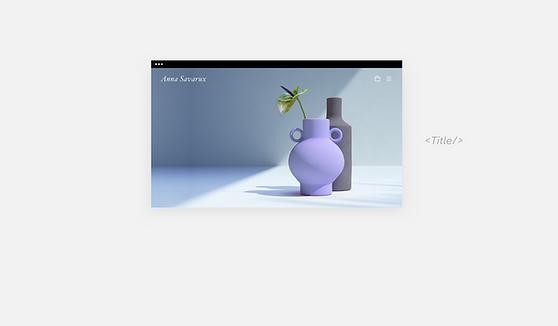 Strona internetowa z wazonami ceramicznymi