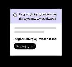 Wix SEO Wiz, ustawianie tytułów SEO dla Twojej strony głównej