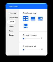 Strumento nell'Editor per modificare come gli eventi appaiono sul tuo sito.