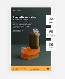 Uno snapshot dello strumento di email marketing integrato, utilizzato per creare una campagna di marketing.