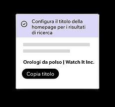 Wix SEO Wiz, impostazione dei titoli SEO per la tua homepage